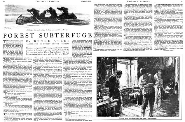 Article Preview: FOREST SUBTERFUGE, August 1926 | Maclean's