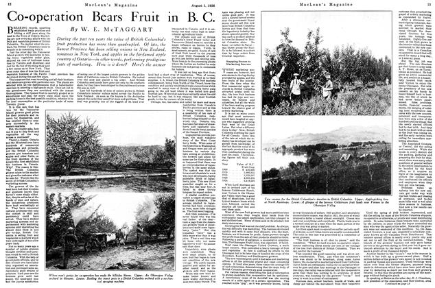 Article Preview: Co-operation Bears Fruit in B. C., August 1926 | Maclean's