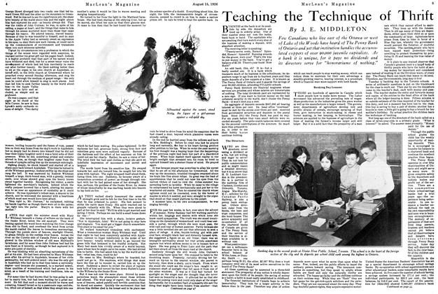 Article Preview: Teaching the Technique of Thrift, August 1926 | Maclean's