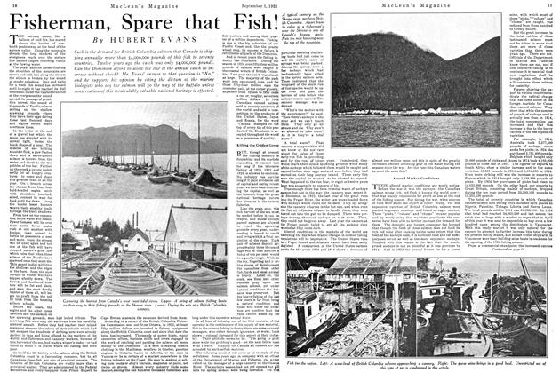 Article Preview: Fisherman, Spare that Fish!, September 1st 1926 1926 | Maclean's