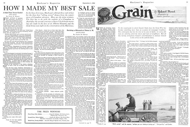 Article Preview: Grain, September 1st 1926 1926 | Maclean's