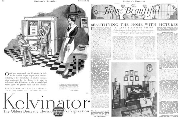 Article Preview: BEAUTIFYING THE HOME WITH PICTURES, September 1st 1926 1926 | Maclean's