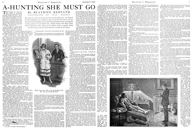 Article Preview: A-HUNTING SHE MUST GO, September 1st 1926 1926 | Maclean's