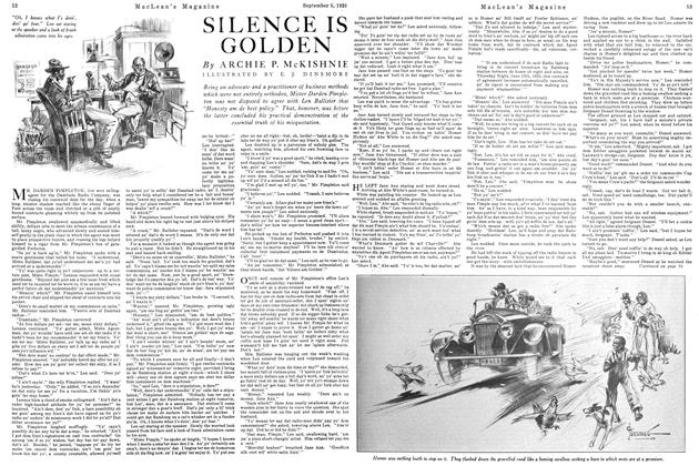 Article Preview: SILENCE IS GOLDEN, September 1st 1926 1926 | Maclean's