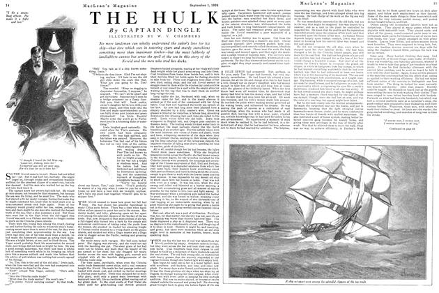 Article Preview: THE HULK, September 1st 1926 1926 | Maclean's