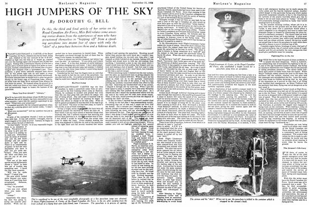 Article Preview: HIGH JUMPERS OF THE SKY, September 15th 1926 1926 | Maclean's