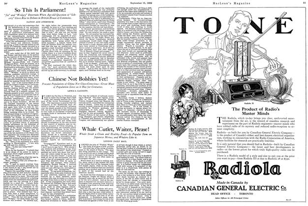 Article Preview: Whale Cutlet, Waiter, Please!, September 15th 1926 1926 | Maclean's