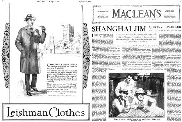 Article Preview: SHANGHAI JIM, September 15th 1926 1926 | Maclean's