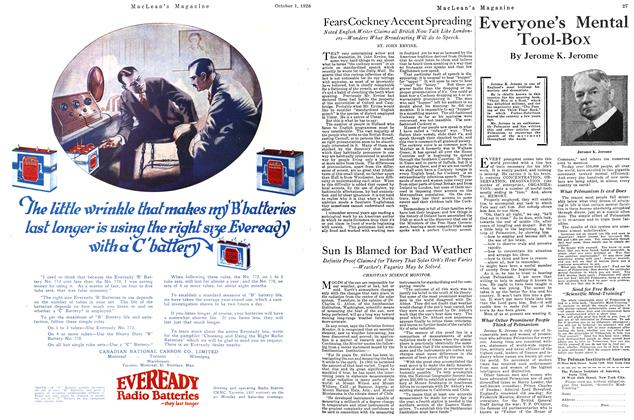 Article Preview: Sun Is Blamed for Bad Weather, October 1926 | Maclean's