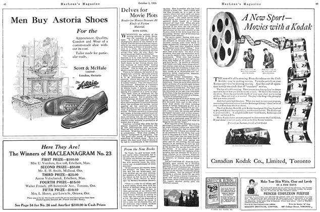 Article Preview: Delves for Movie Plots, October 1926 | Maclean's