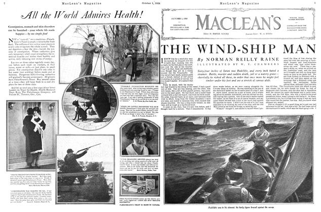 Article Preview: THE WIND-SHIP MAN, October 1926 | Maclean's