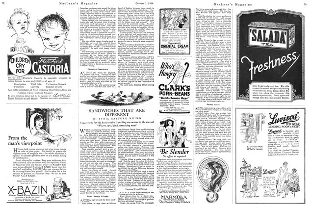 Article Preview: SANDWICHES THAT ARE DIFFERENT, October 1926 | Maclean's