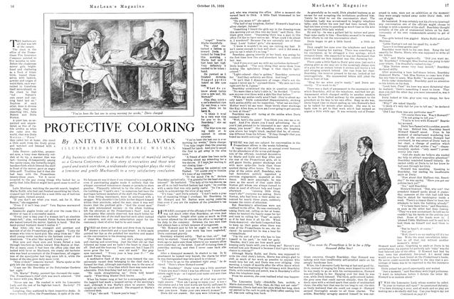 Article Preview: PROTECTIVE COLORING, October 15TH 1926 1926 | Maclean's