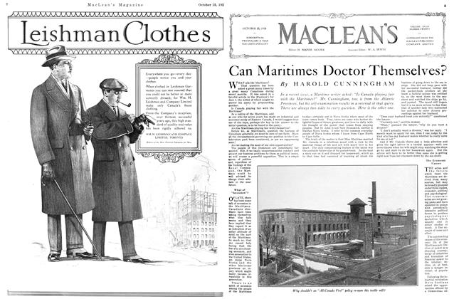 Article Preview: Can Maritimes Doctor Themselves?, October 15TH 1926 1926 | Maclean's