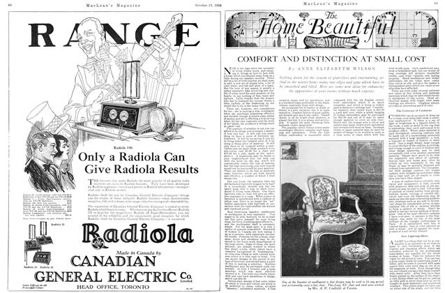 Article Preview: COMFORT AND DISTINCTION AT SMALL COST, October 15TH 1926 1926 | Maclean's