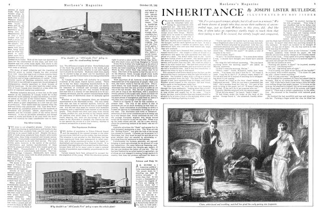 Article Preview: INHERITANCE, October 15TH 1926 1926 | Maclean's