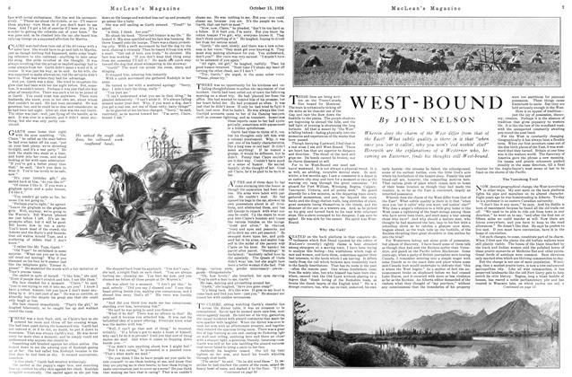 Article Preview: WEST-BOUND, October 15TH 1926 1926 | Maclean's