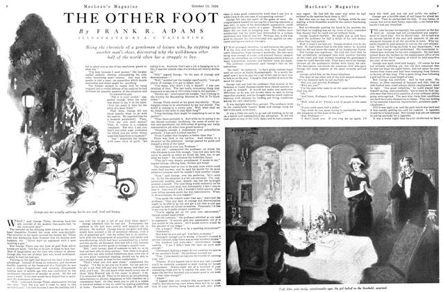 Article Preview: THE OTHER FOOT, October 15TH 1926 1926 | Maclean's