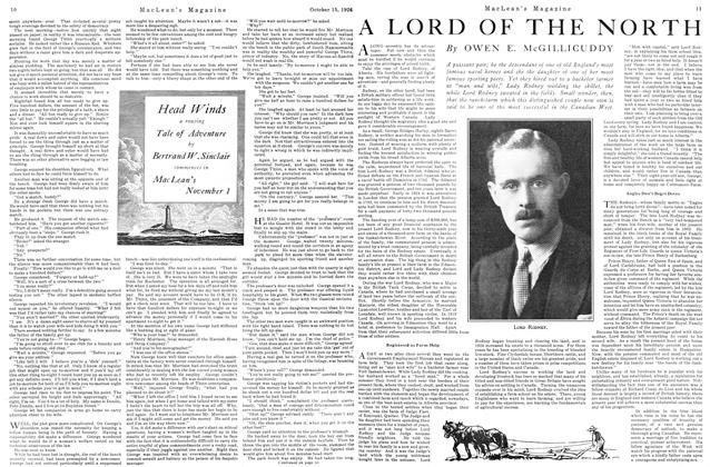 Article Preview: A LORD OF THE NORTH, October 15TH 1926 1926 | Maclean's