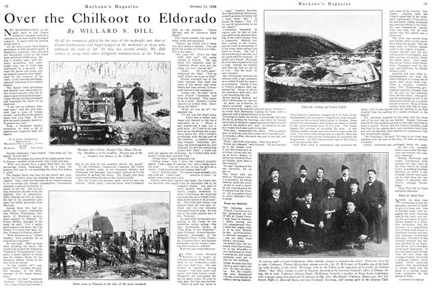 Article Preview: Over the Chilkoot to Eldorado, October 15TH 1926 1926 | Maclean's