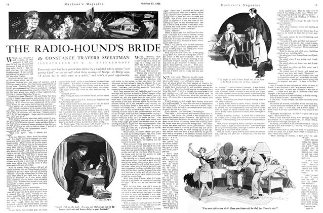 Article Preview: THE RADIO-HOUND'S BRIDE, October 15TH 1926 1926   Maclean's