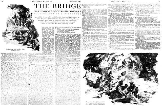 Article Preview: THE BRIDGE, November 1ST 1926 1926 | Maclean's