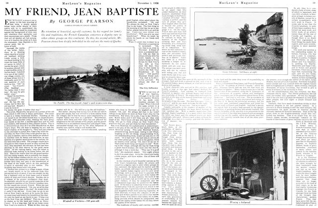 Article Preview: MY FRIEND, JEAN BAPTISTE, November 1ST 1926 1926 | Maclean's