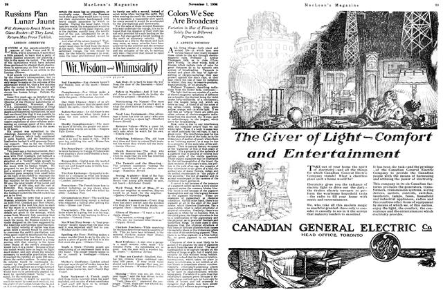 Article Preview: Colors We See Are Broadcast, November 1ST 1926 1926 | Maclean's