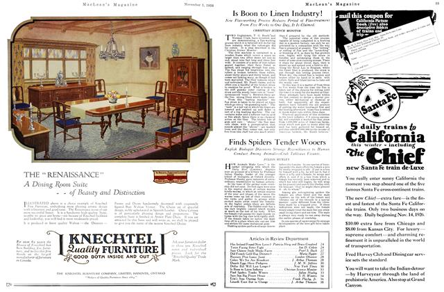Article Preview: Is Boon to Linen Industry!, November 1ST 1926 1926 | Maclean's