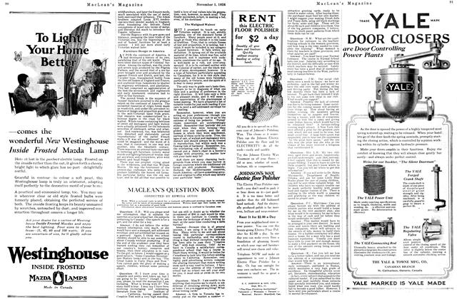 Article Preview: MACLEAN'S QUESTION BOX, November 1ST 1926 1926 | Maclean's