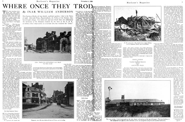 Article Preview: WHERE ONCE THEY TROD, November 1ST 1926 1926 | Maclean's