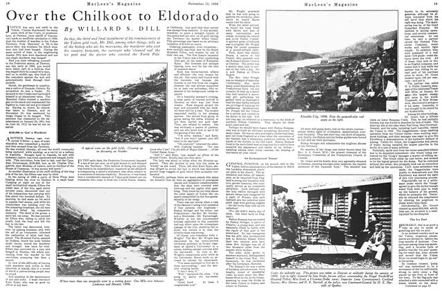 Article Preview: Over the Chilkoot to Eldorado, Toronto, November 15, 1926 1926 | Maclean's