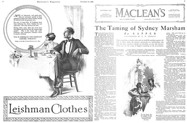 Article Preview: The Taming of Sydney Marsham, Toronto, November 15, 1926 1926 | Maclean's