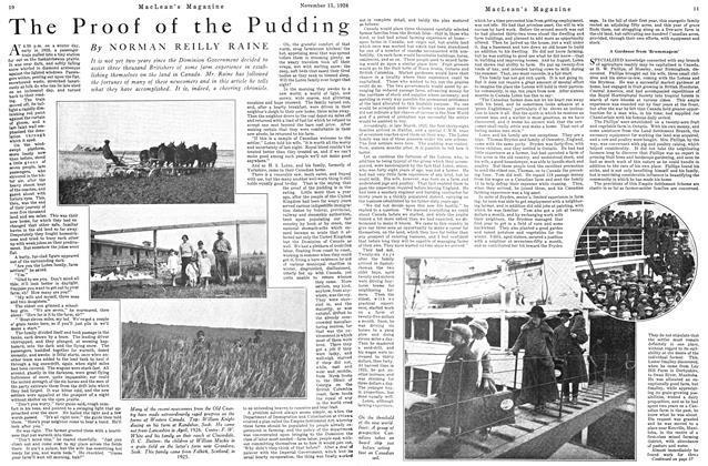Article Preview: The Proof of the Pudding, Toronto, November 15, 1926 1926 | Maclean's