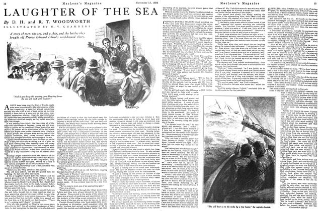 Article Preview: LAUGHTER OF THE SEA, Toronto, November 15, 1926 1926 | Maclean's