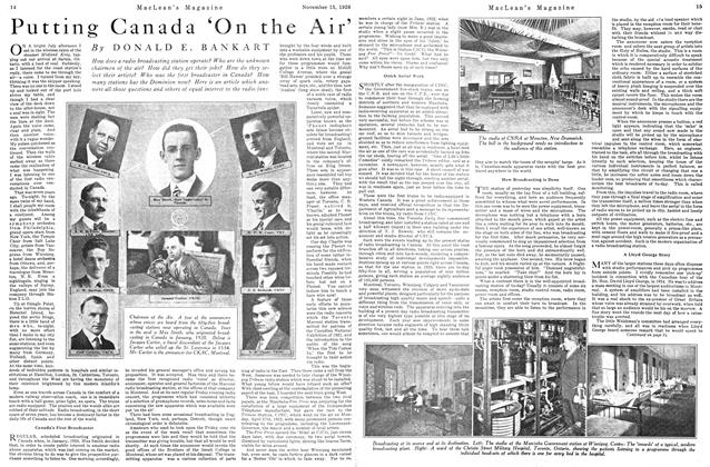 Article Preview: Putting Canada 'On the Air', Toronto, November 15, 1926 1926 | Maclean's