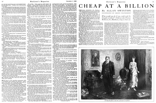 Article Preview: CHEAP AT A BILLION, December 1926 | Maclean's