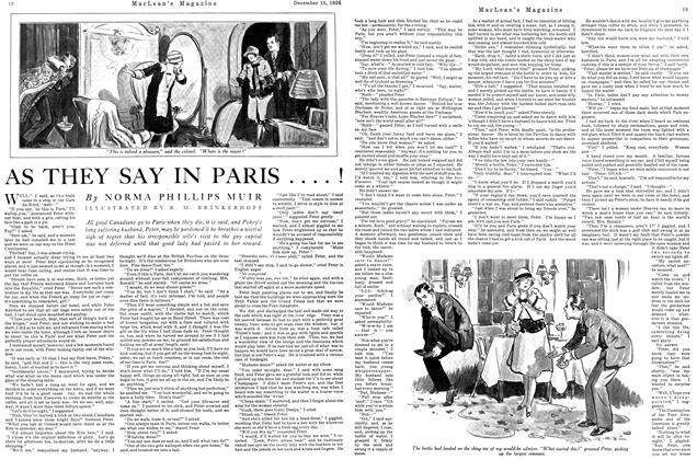 Article Preview: AS THEY SAY IN PARIS....!, December 1926 | Maclean's