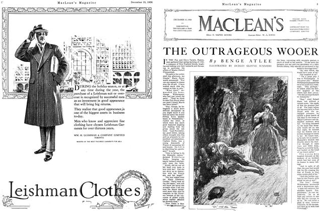 Article Preview: THE OUTRAGEOUS WOOER, December 1926 | Maclean's