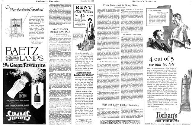 Article Preview: MACLEAN'S QUESTION BOX, December 1926 | Maclean's
