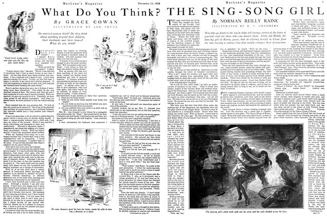 Article Preview: THE SING-SONG GIRL, December 1926 | Maclean's