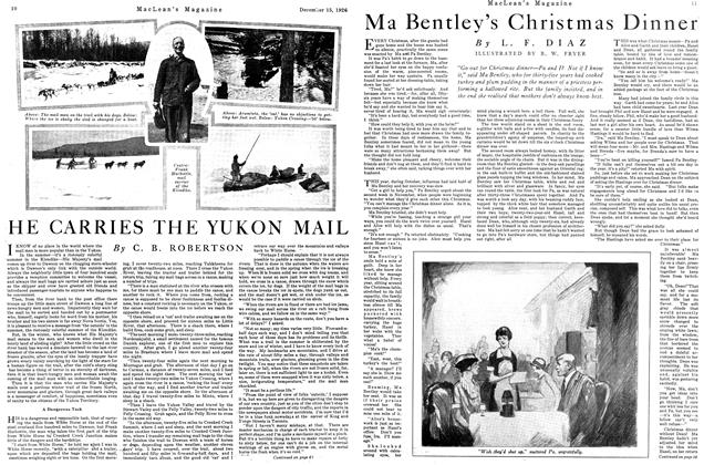 Article Preview: Ma Bentley's Christmas Dinner, December 1926 | Maclean's