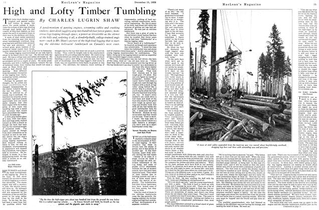 Article Preview: High and Lofty Timber Tumbling, December 1926 | Maclean's