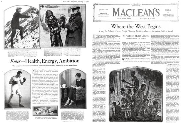 Article Preview: Where the West Begins, January 1 ST 1927 1927 | Maclean's