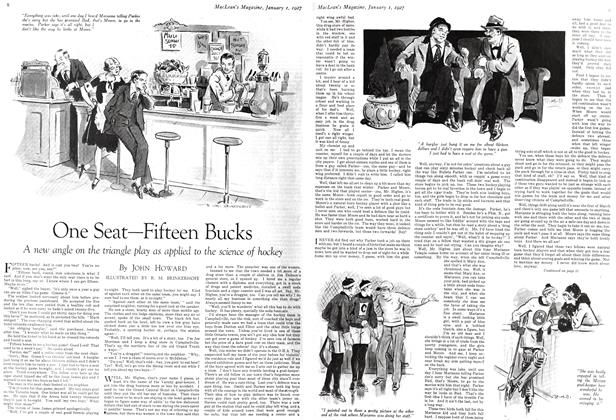 Article Preview: One Seat—Fifteen Bucks, January 1 ST 1927 1927 | Maclean's