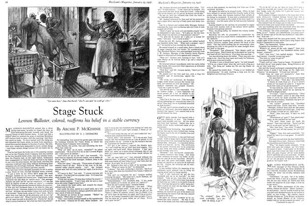 Article Preview: Stage Stuck, January 15TH 1927 1927 | Maclean's