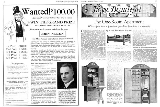 Article Preview: The One-Room Apartment, January 15TH 1927 1927 | Maclean's