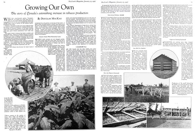 Article Preview: Growing Our Own, January 15TH 1927 1927 | Maclean's
