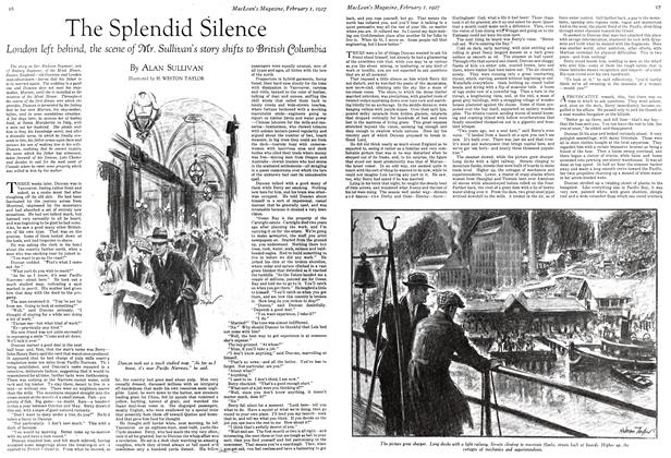 Article Preview: The Splendid Silence, February 1st 1927 1927 | Maclean's