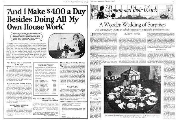 Article Preview: A Wooden Wedding of Surprises, February 1st 1927 1927 | Maclean's